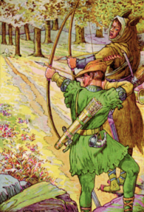 255px-Robin_shoots_with_sir_Guy_by_Louis_Rhead_1912-204x300